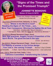 Johnnette Benkovic Conference Dates (pdf)