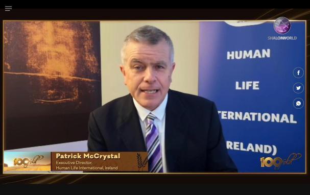 Patrick McCrystal and HLI Ireland featured on Shalom World TV